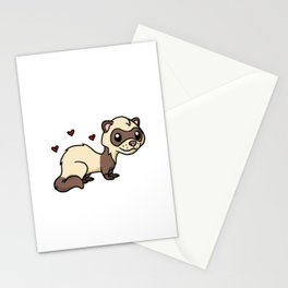 Just A Girl Who Loves Ferrets Cute Ferret Costume Stationery Cards