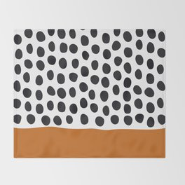 Classy Handpainted Polka Dots with Autumn Maple Throw Blanket