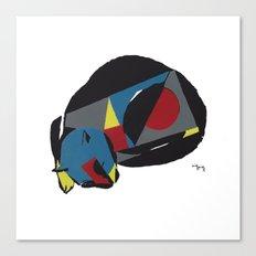 abstract sleeping cat (silkscreen) Canvas Print
