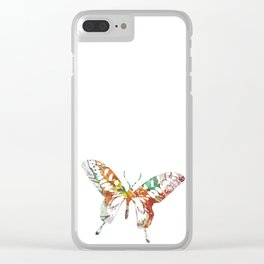 Colorful butterfly fabric art Clear iPhone Case