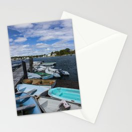 more boats at rest Kennebunkport Maine Stationery Cards