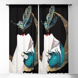 Butterfly Kiss Art Deco Remix Blackout Curtain