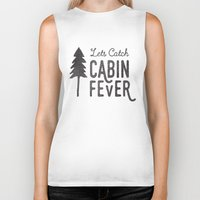 cabin Biker Tanks featuring CABIN FEVER by cabin supply co