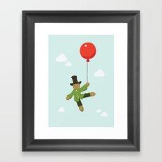 Scarecrow in balloon  Framed Art Print