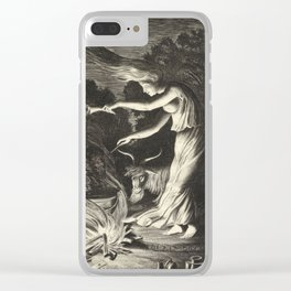 Witch - 17th Century Illustration Clear iPhone Case