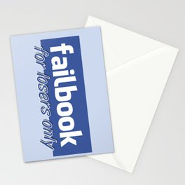 Failbook for losers only Stationery Cards