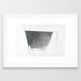 Basin Abstract Drawing Framed Art Print