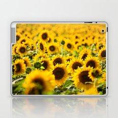 Through Fields of Light - Sunflowers Laptop & iPad Skin