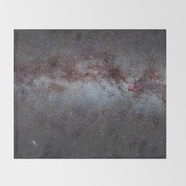 North America Nebula: the Milky way, from Cygnus to Perseus and Andromeda galaxy. Throw Blanket
