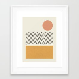Sun Wave Beach - Abstract Framed Art Print