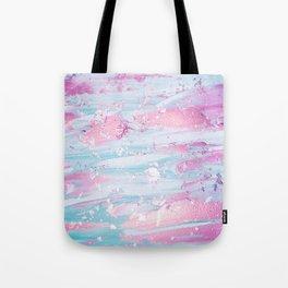 Shine Shimmer Pastel Pink and Blue Modern Tote Bag