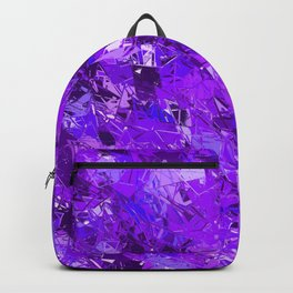 Fractured Blue-Violet Texture Backpack