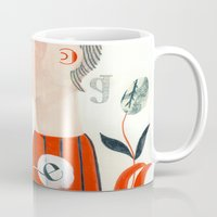 letters Mugs featuring LETTERS by Sara Stefanini