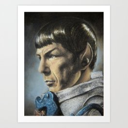 Spock - The Pain of Loss (Star Trek TOS) Art Print