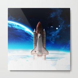 NASA Rocket Metal Print