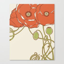 Graphic Poppies Canvas Print