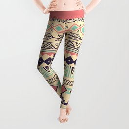 Aztec pattern 02 Leggings