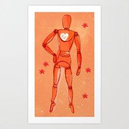 Space lay figure again Art Print