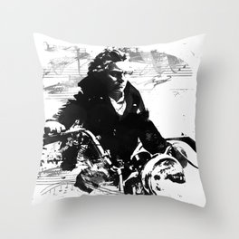 Beethoven Motorcycle Throw Pillow