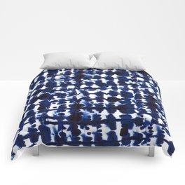 Parallel Indigo Comforters