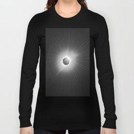 Total Solar Eclipse Illuminated by Sun  Long Sleeve T-shirt