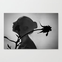 a flower's silhouette  Canvas Print