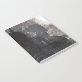 Abstract Texture, Black White & Grey Texture 1 Notebook