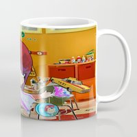 "magneto Mugs featuring "" Mini Magneto "" by Funki monkey animation studio"