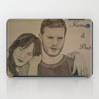 allyson johnson iPad Cases featuring DAKOTA JOHNSON - JAMIE DORNAN by Virginieferreux