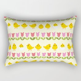 Easter - chick and tulips Rectangular Pillow