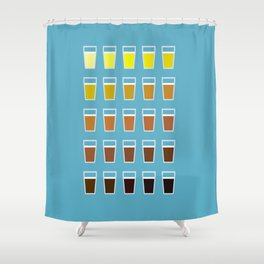 The Colors of Beer Shower Curtain