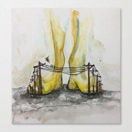 Telefoot Canvas Print