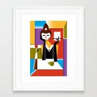 breakfast Framed Art Prints featuring Breakfast by Szoki