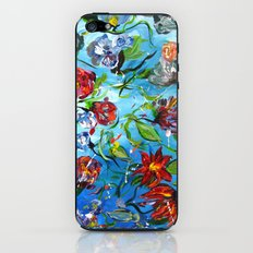 Blue Flower Swirl iPhone & iPod Skin