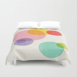 Rainbow Bubbles Duvet Cover
