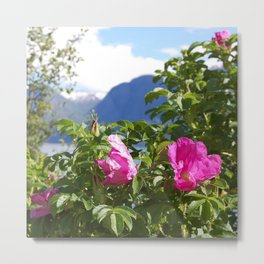 Through The Flowers Metal Print