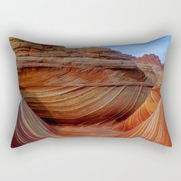 Majestic Southwest Red Canyons: The Wave, Paria Wilderness Rectangular Pillow