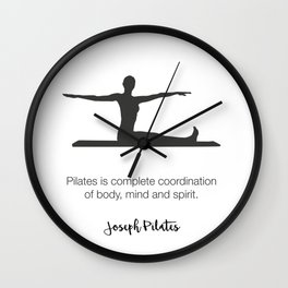 Pilates Studio Decor Wall Clock