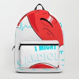 Being A Cardiologist I Can Not Fix Stupid Medical Pun design Backpack