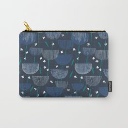 Botanical Block Print M+M Navy by Friztin Carry-All Pouch
