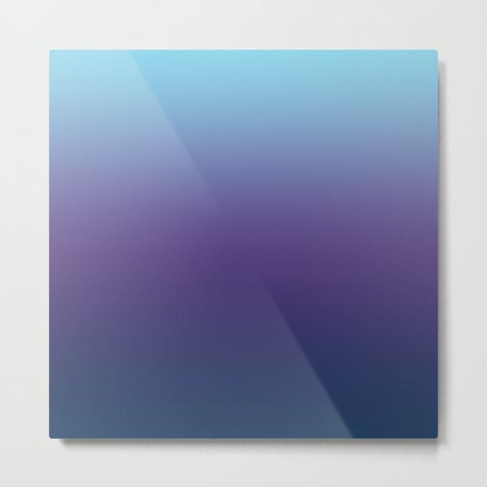 Ombre Blue Ultra Violet Gradient Pattern Metal Print