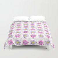 flower pattern Duvet Covers featuring FLOWER PATTERN by Lulla