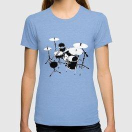 Drumkit Silhouette (backview) T-shirt