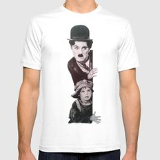 charles chaplin the kid SMALL White Mens Fitted Tee