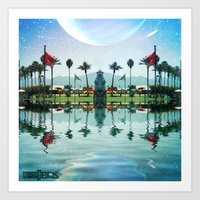 coachella Art Prints featuring Coachella Oasis by Osojack