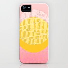Electric minimal sun iPhone Case