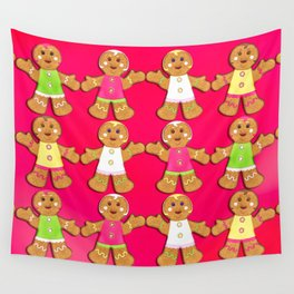 Gingerbread Men and Gingerbread Woman Cookies Wall Tapestry