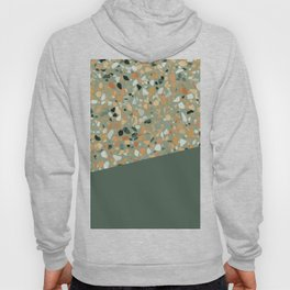 Terrazzo Texture Military Green #4 Hoody