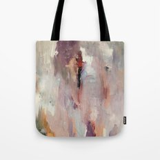 Gentle Beauty [2] - an elegant acrylic piece in deep purple, red, gold, and white Tote Bag