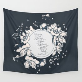 Ye werena the first lass I kissed. But I swear you'll be the last. Jamie Fraser Wall Tapestry
